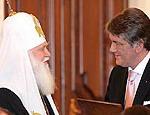 Накануне визита заместителя Папы Римского Ющенко встретился с Филаретом