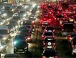 Из-за ремонта дороги центр Запорожья превратился в автомобильную пробку