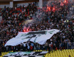 Болельщики «Торпедо» провели акцию по спасению любимой команды. На 60 минуте матча они покинули трибуны стадиона (ФОТО)
