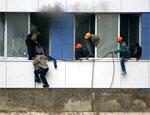 В Москве вспыхнул пожар в строящемся жилом комплексе