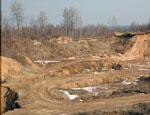 В окрестностях Екатеринбурга обнаружены незаконные карьеры по добыче грунта, «копатели» ударились в бега