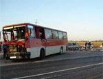 В Москве автобус столкнулся с «Камазом», пострадали люди