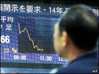 Мировые биржи нервно восприняли обвал в Токио