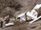 В Англии самолет упал на трактор