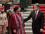 Ющенко договорился с Каддафи о поставках оружия в Ливию и «взаимопонимании» относительно войны на Кавказе