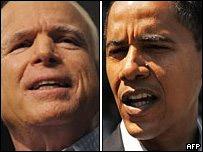 Обама проигрывает Маккейну по голосам выборщиков