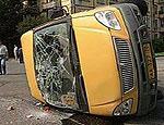 Под Зеленоградом перевернулось маршрутное такси