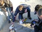 В Севастополе демонстративно сожгли партию стартовых пакетов Beeline (ФОТО)