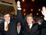 Ющенко прибыл в Тбилиси вместе с президентами Польши, Эстонии и Латвии