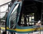 В Омске автобус протаранил цистерну с битумом